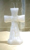 Altar candle rood white